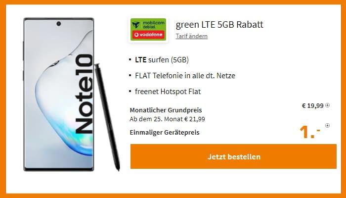 Galaxy Note 10 Green LTE Vodafone 5 GB