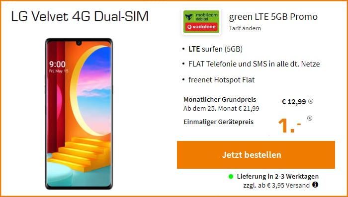 Lg Velvet 4G MD Green LTE Saturn 5 GB