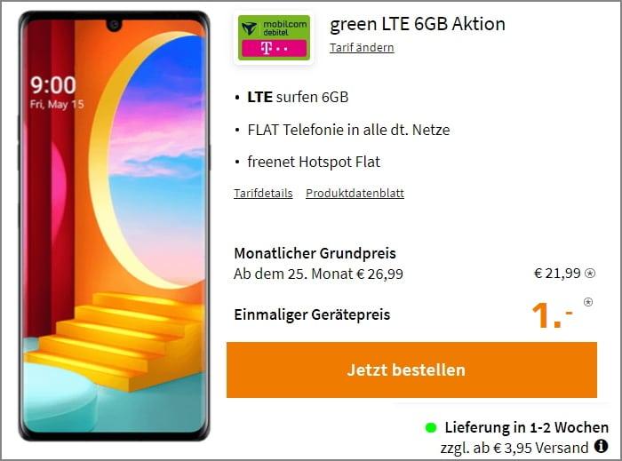 LG Velvet Green LTE Telekom 6 GB
