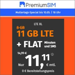 PremiumSIM LTE XL Aktion Muttertag 2021 Thumbnail