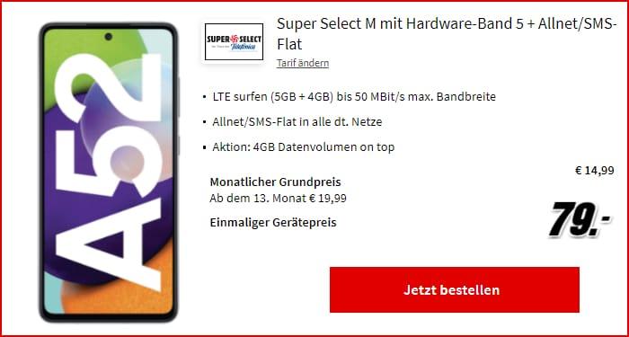 Samsung Galaxy A52 Super Select S Mediamarkt 19 05