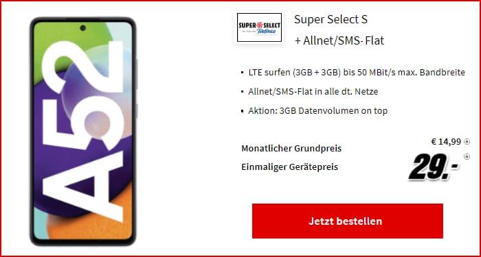 Samsung Galaxy A52 Super Select S Mediamarkt