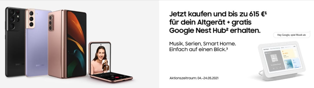 Kostenlosen Google Nest Hub zum Samsung-Smartphone abstauben: So geht es