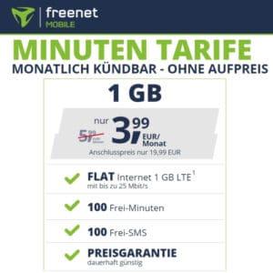 freenet mobile Minuten Tarife