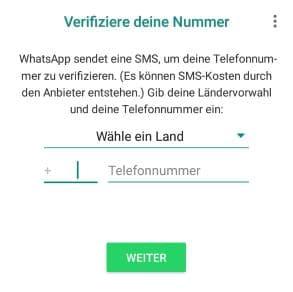 WhatsApp verifizieren