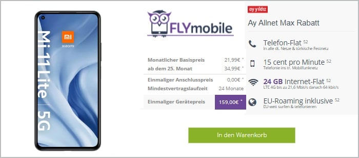 Xiaomi Mi 11 Litezum Ay Allnet Max bei FLYmobile
