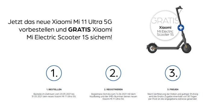 Xiaomi Mi 11 Ultra 5G Vorbesteller Aktion