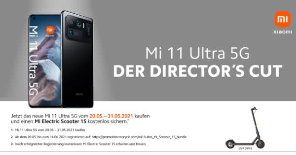 Vorbesteller-Aktion zum Xiaomi Mi 11 Ultra 5G