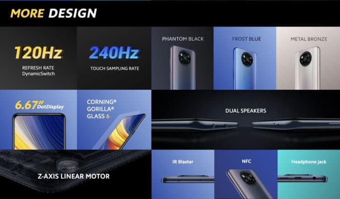 Xiaomi Poco X3 Pro - Design