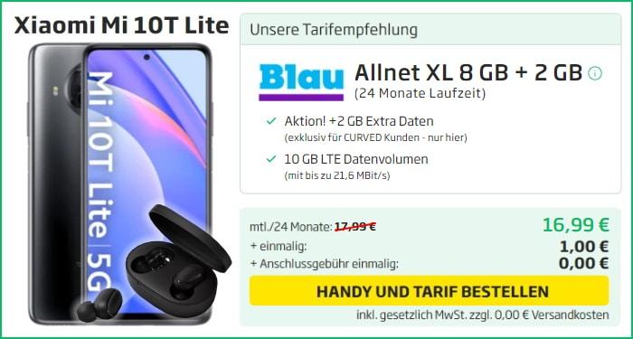 Xiaomi Mi 10T Lite Blau Allnet Flat Xl Curved