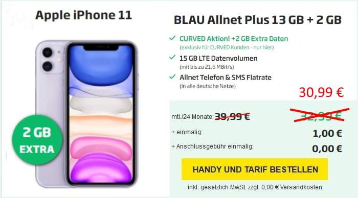 iPhone 11 Allnet Plus bei Curved