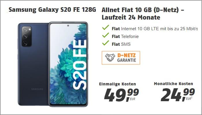 Samsung Galaxy S20 FE mit Klarmobil Allnet Flat 10 GB