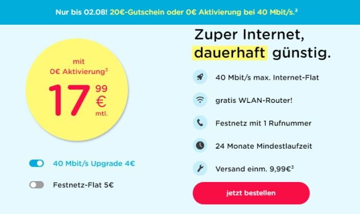 eazy40 mit 50 € Gutschein