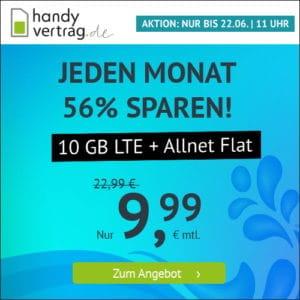 handyvertrag.de LTE All 10 GB Aktion Juni 2021 Thumbnail