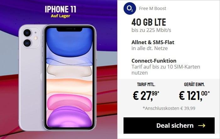 iPhone 11 + o2 Free M Boost bei Sparhandy