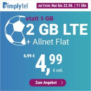 simplytel LTE 1000 Aktion Juni 2021 Thumbnail