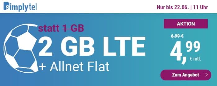 simplytel LTE 1000 Aktion Juni 2021