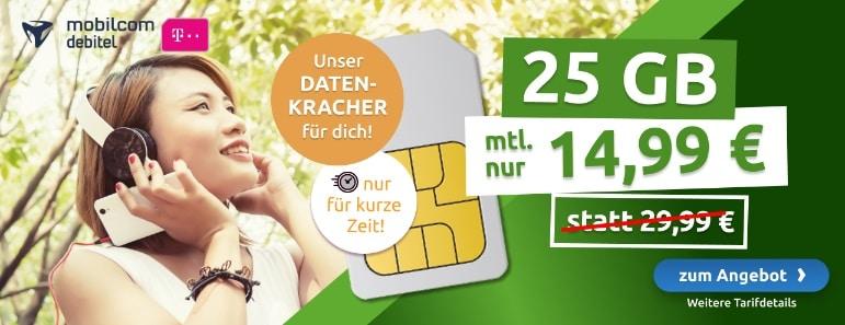 md green Data XL 25 GB Aktion bei LogiTel