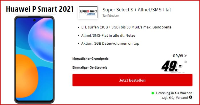 Huawei P Smart 2021 Super Select bei MediaMarkt