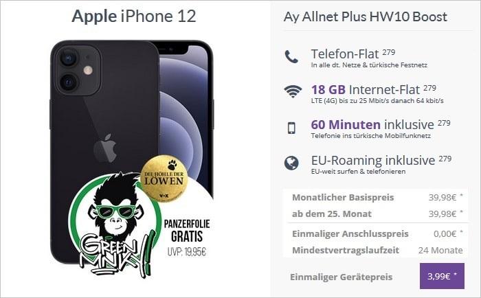 iPhone 12 mit Ay Yildiz Ay Allnet Plus Boost bei FLYmobile