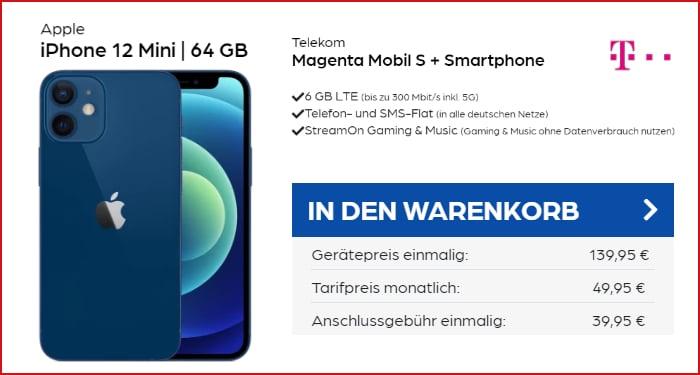 iPhone 12 Mini zum Telekom MagentaMobil S bei Preisboerse24
