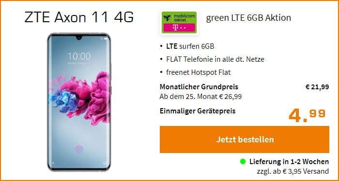 ZTE Axon 11 4G mit md green LTE 6 GB (Telekom-Netz) bei Saturn
