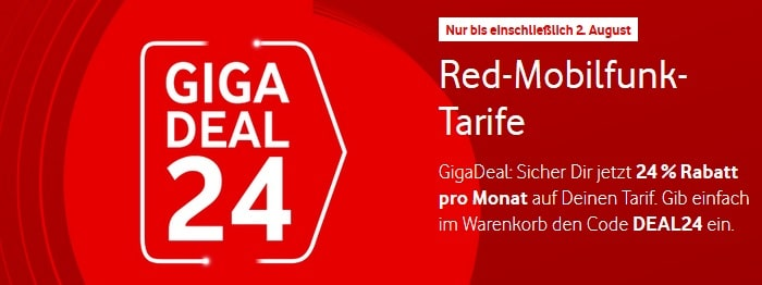 Vodafone 24 Prozent Aktion