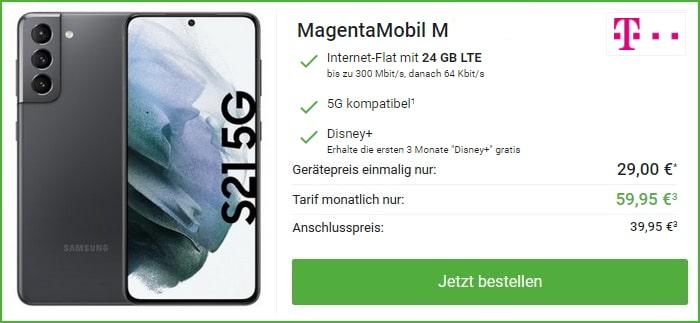 Samsung Galaxy S21 Plus Telekom Magenta Mobil bei DeinHandy