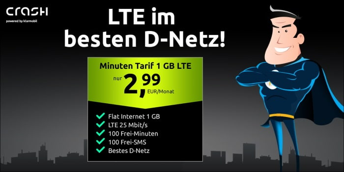 crash Minuten Tarif 1 GB im Telekom Netz