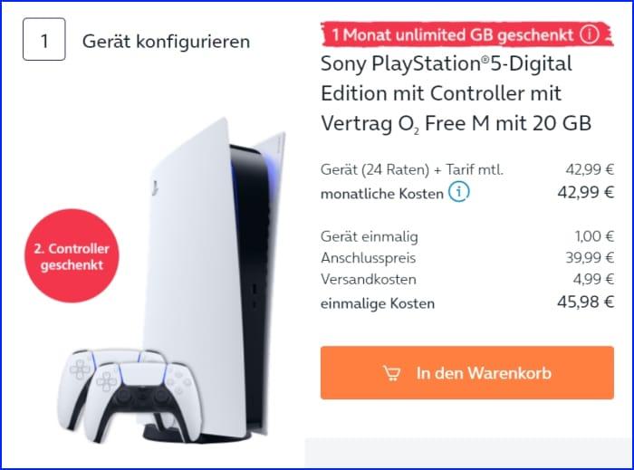 Sony PlayStation 5 bei o2