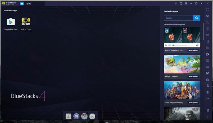 Bluestacks auf Windows nutzen