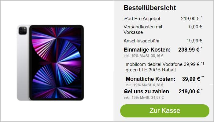 iPad Pro 2021 Modeo Vodafone Green LTE