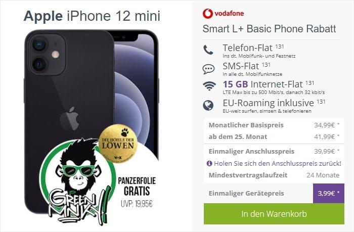 iPhone 12 mini + Vodafone Smart L Plus bei FLYmobile