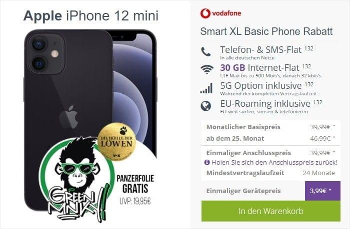 iPhone 12 Mini zum Vodafone Smart XL bei FLYmobile