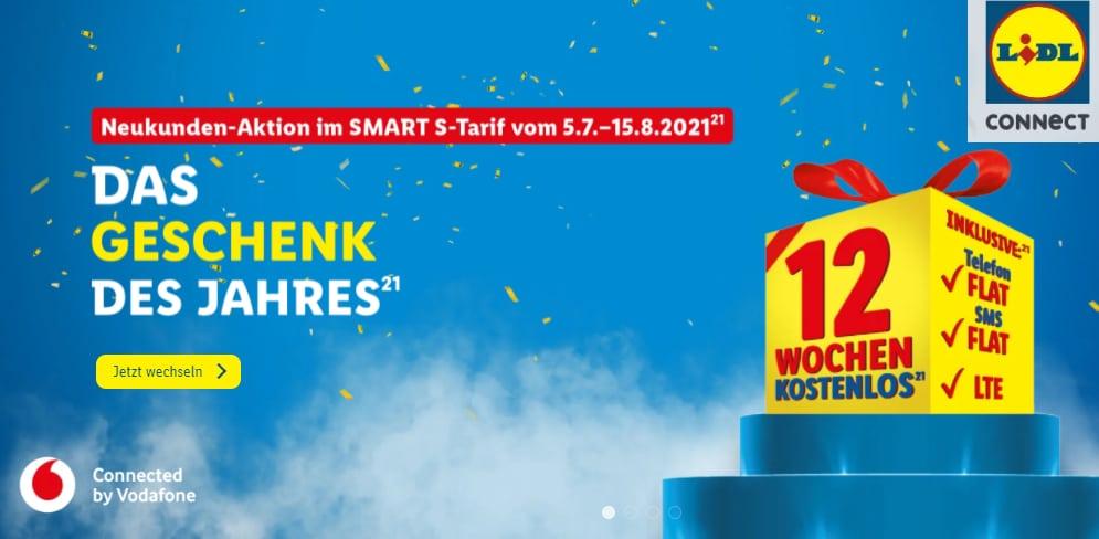 LIDL Connect Smart S 12 Wochen gratis