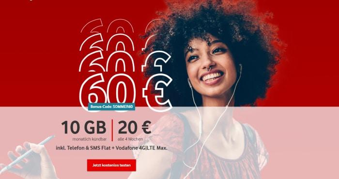 Vodafone Callya Digital 60 € Bonus