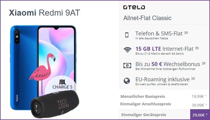 Xiaomi Redmi 9AT mit otelo Allnet Flat Classic bei FLYmobile