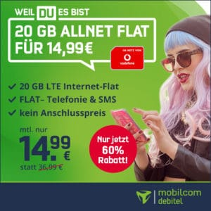 mobilcom-debitel green LTE (Vodafone-Netz) bei Vitrado Thumbnail