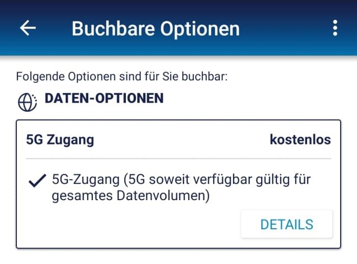 My o2 App - 5G Zugang kostenlos buchen für Bestandskunden von o2 Free M (Boost)
