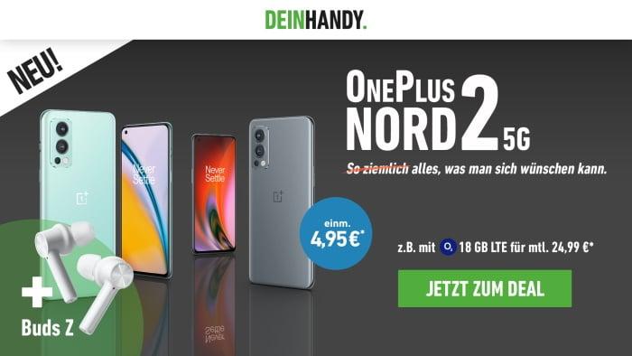 OnePlus Nord 2 5G + OnePlus Buds Z + o2 Blue All-In M bei DeinHandy