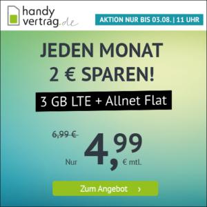 handyvertrag.de LTE All 3 GB Aktion Juli 2021 Thumbnail