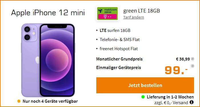 iPhone 12 mini + mobilcom-debitel green LTE (Telekom-Netz) bei Saturn