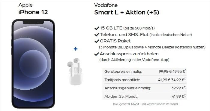 iPhone 12 mit Pods zum Smart L Plus bei Pb24 AG Aktion