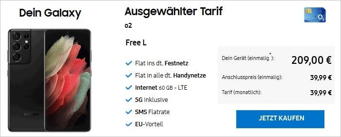 Samsung Galaxy S21 Ultra mit o2 Free L im Samsung-Shop
