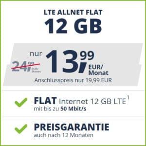 freenet mobile Allnet Flat Aktion mit 12 oder 20 GB für 13,99 bzw. 16,99 € mtl.