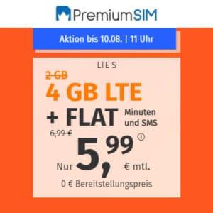 PremiumSIM LTE S Aktion Anfang August 2021 Thumbnail