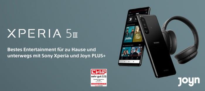 Sony Xperia 5 III Vorbesteller-Aktion mit gratis Sony WH-H910N Kopfhörer & 3 Monate gratis JonyPLUS+