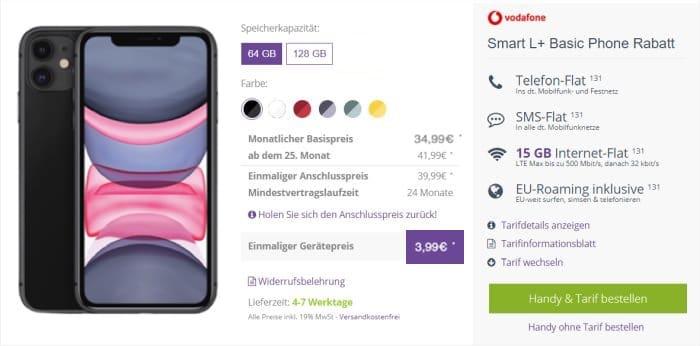 iPhone 11 + Vodafone Smart L Plus inkl. MagSafe