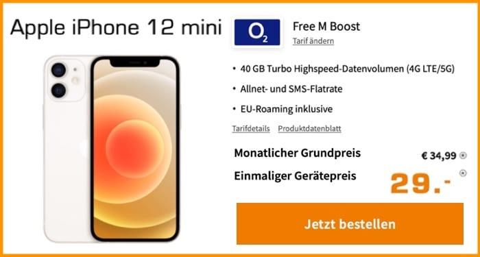 Apple iPhone 12 Mini + o2 Free M Boost 5G bei Saturn