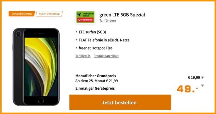 iPhone SE (2020) + md green LTE 5 GB bei Saturn